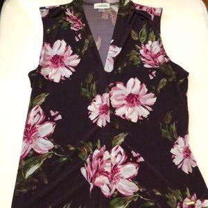 Calvin Klein sleeveless blouse